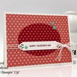 Forever Lovely stamp set, Needlepoint Elements Framelits Dies, Brights 6x6 paper, Glitter Enamel Dots, Whisper White Twine by Stampin