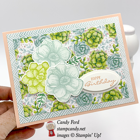Painted Seasons stamp set, Four Seasons Framelits Dies, Stampin' Up! Sale-a-bration Coordination #stampcandy