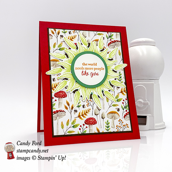 Part of My Story stamp set, Painted Seasons bundle, Four Seasons Framelits Dies, and Circle Punches from Stampin' Up! #stampcandy