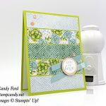 This card was made with new Second Release Sale-a-bration items available Feb 15 - Mar 31, 2019! All Adorned stamp set, Painted Season paper by Stampin