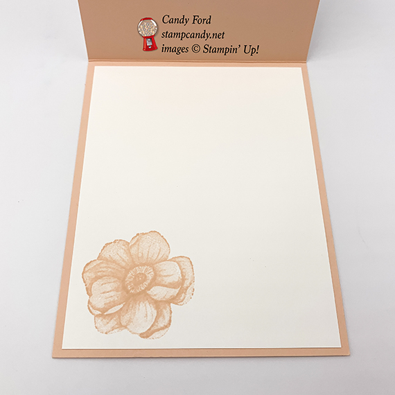 All Adorned stamp set, Country Floral dynamic embossing folder, you're the best card made by Candy Ford. Stampin' Up! #stampcandy