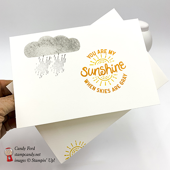 You are my sunshine handmade card by Candy Ford. Here Comes the Sun, Artisan Textures, and Balloon Celebration stamp sets by Stampin! Up! #stampcandy #simplestamping