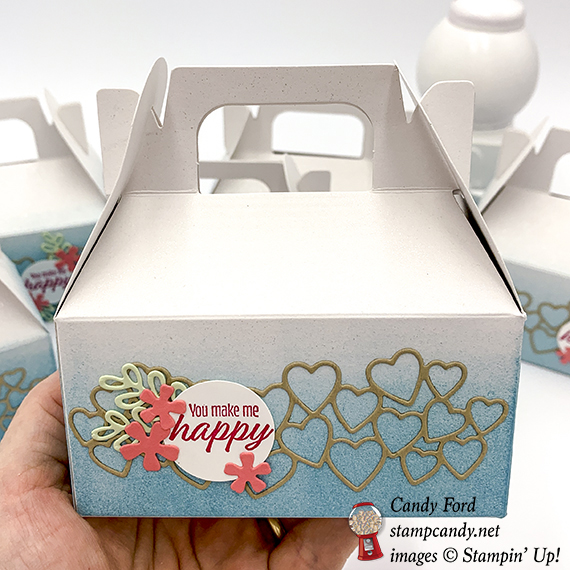 Meant to Be bundle, mini gable boxes by Stampin' Up! #stampcandy