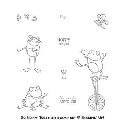 So Hoppy Together stamp set © Stampin' Up! Sale-a-bration #stampcandy