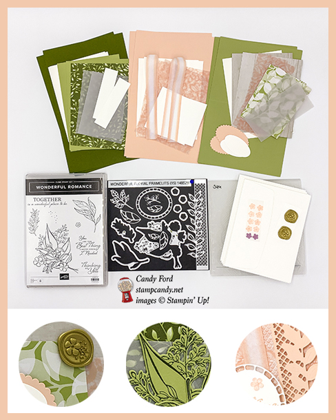 Floral Romance online class, make 6 beautiful cards at home in your PJs, Stampin' Up!, Candy Ford, #stampcandy