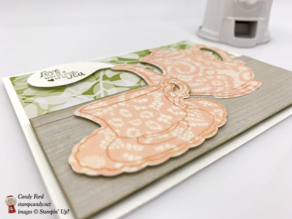 Tea Together stamp set, Tea Time Framelits Dies, Floral Romance paper from Stampin' Up! #stampcandy