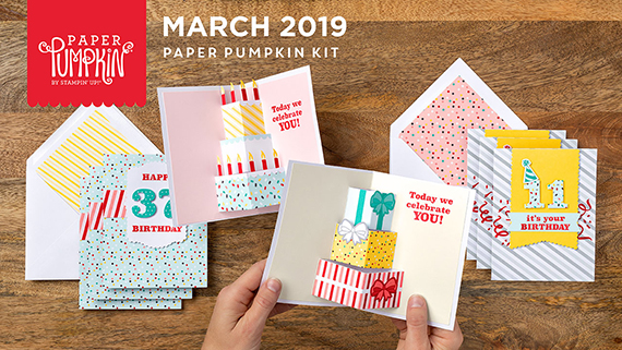 March 2019 Paper Pumpkin Kit, Popping Birthday