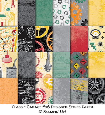 Classic Garage 6x6 Designer Series Paper © Stampin' Up!