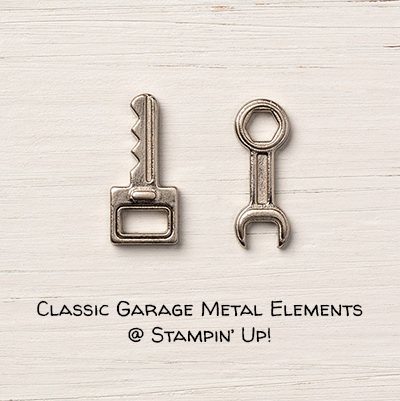 Classic Garage Metal Elements © Stampin' Up!