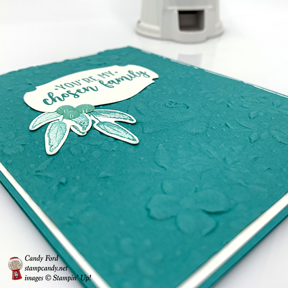 Part of My Story stamp set, Story Label Punch, Country Floral dynamic embossing folder, Painted Seasons stamp set, Four Seasons Framelits Dies, Glitter Enamel Dots from Stampin' Up! #stampcandy
