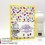 More Than Words stamp set, Sweetest Thing stamp set, Jar of Sweets Framelits Dies, How Sweet It Is Designer Series Paper from Stampin