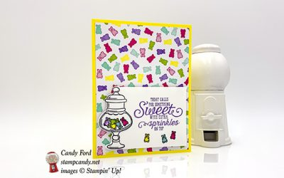 More Than Words Gummy Bear Card
