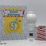March 2019 Paper Pumpkin Kit, Popping Birthday, alternate projects by Candy Ford #stampcandy