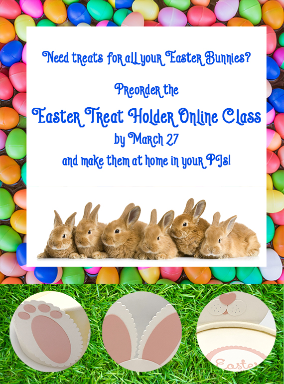 Easter Treat Holder online class by Candy Ford #stampcandy