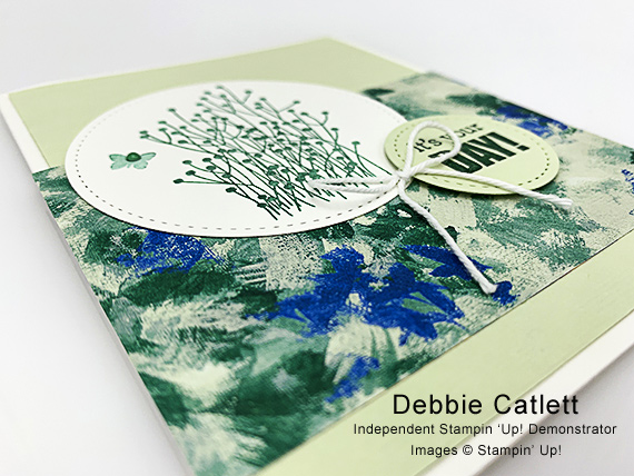 Stampin' Up! Enjoy Life it's your day handmade card by Debbie Catlett of Candy Hearts a guest stamper for Stamp Candy