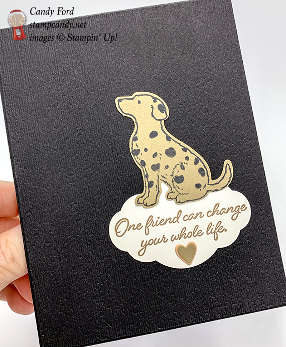 Stampin' Up! Happy Tails handmade card by Candy Ford of Stamp Candy