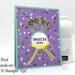 Sweetest Thing stamp set, Jar of Sweets Framelits Dies, and How Sweet It Is Designer Series Paper from Stampin