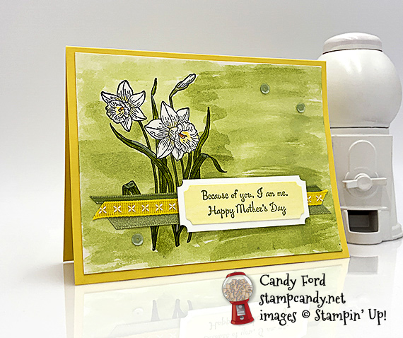 Stampin' Up! You're Inspiring Mother's Day handmade card by Candy Ford of Stamp Candy