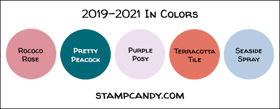 2019-2021 In Colors by Stampin' Up! #stampcandy