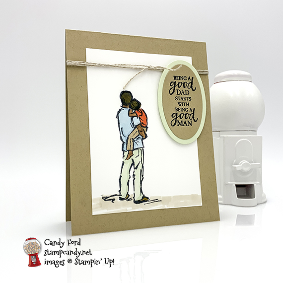 A Good Man stamp set from Stampin' Up!, card for dad made by Candy ford #stampcandy