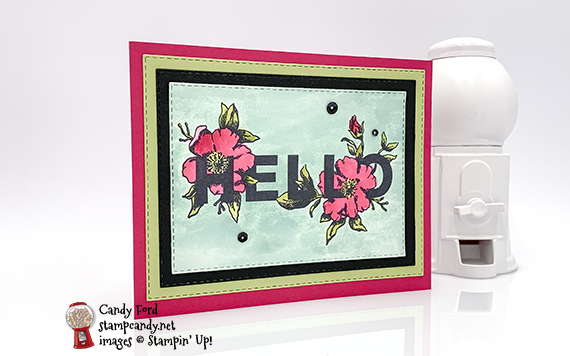 Floral Statements Watercolor Hello Card