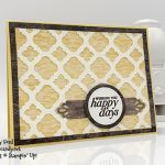 Happy Day card made using the Florentine Filigree bundle by Stampin