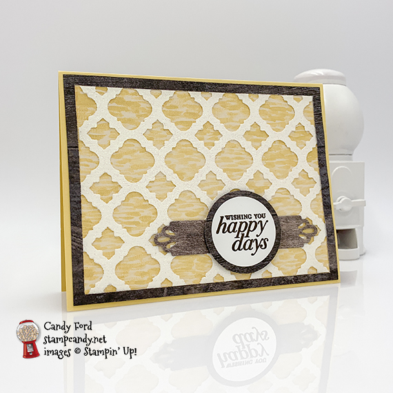Happy Day card made using the Florentine Filigree bundle by Stampin' Up! #stampcandy