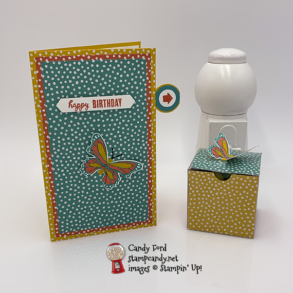 happy birthday card made with Butterfly Gala stamp set & Butterfly Duet Punch from Stampin' Up! #stampcandy