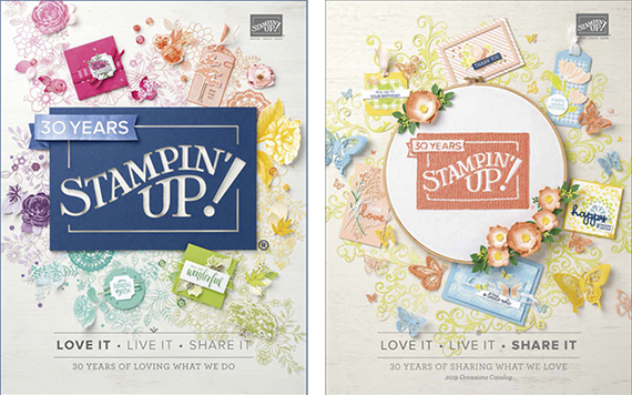 Stampin' Up! 2019 Occasions catalog and 2018-2019 Annual catalog #stampcandy