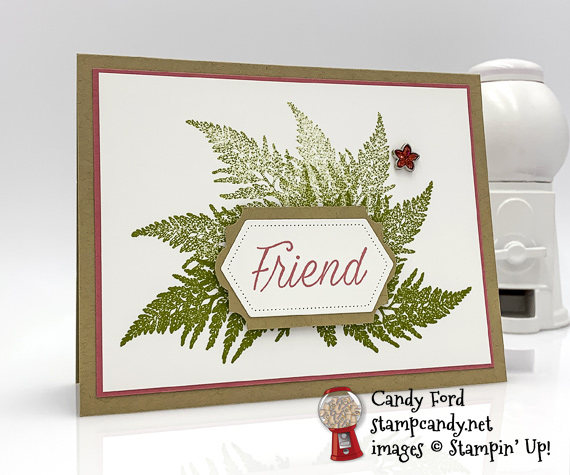 Sneak Peek Stampin' Up! Daisy Lane from the 2019-2020 Annual Catalog handmade friend card made by Candy Ford of Stamp Candy