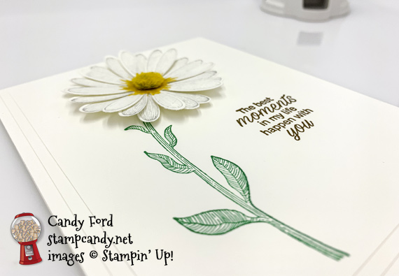 Stampin' Up! Daisy Lane handmade moments card made by Candy Ford of Stamp Candy