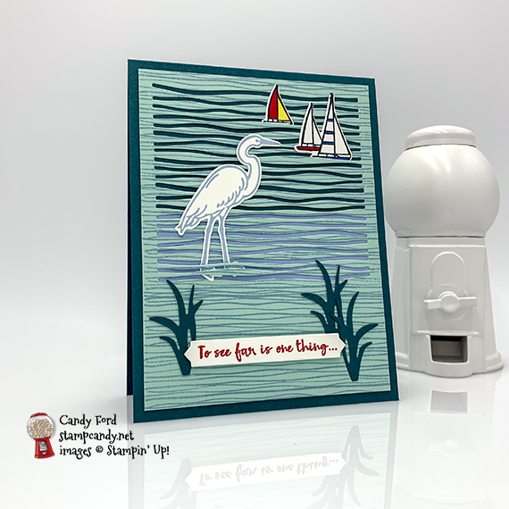 Stampin' Up! Lily Pad Lake handmade card made by Candy Ford of Stamp Candy
