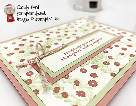 sympathy encouragement card, Wishing You Well stamp set from Stampin Up! #stampcandy