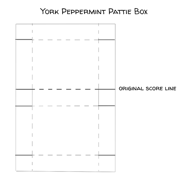 York Peppermint Pattie treat box by Candy Ford #stampcandy
