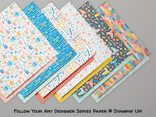 Follow Your Art Designer Series Paper © Stampin' Up!