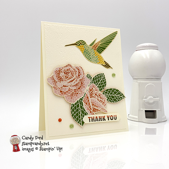 Mosaic Mood Suite, Memorable Mosaic stamp set, Mosaic Mood Specialty Designer Series Paper, Classic Label Punch, by Stampin' Up! Card made by Candy Ford #stampcandy