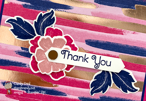 Everything is Rosy (limited edition product medley - only available in May 2019) handmade thank you card made by Candy Ford of Stamp Candy
