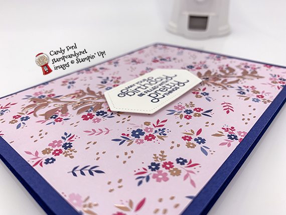 Everything is Rosy (limited edition product medley - only available in May 2019) handmade birthday card made by Candy Ford #stampcandy