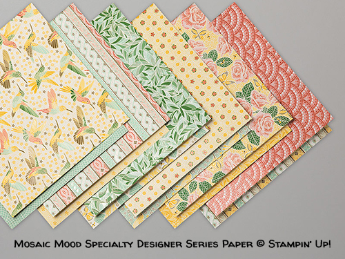 Mosaic Mood Specialty Designer Series Paper © Stampin' Up!
