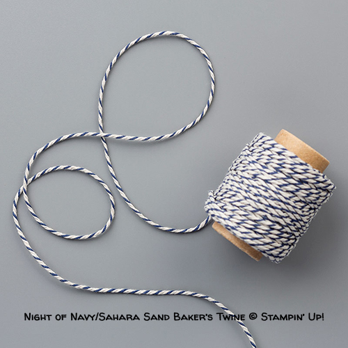 Night Of Navy/Sahara Sand Baker's Twine © Stampin' Up!