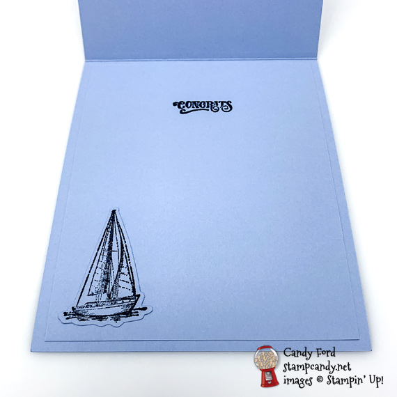 Stampin' Up! Sailing Home bundle and Come Sail Away compass DSP handmade masculine card by Candy Ford of Stamp Candy