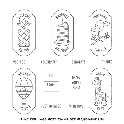 Time For Tags host stamp set © Stampin' Up!