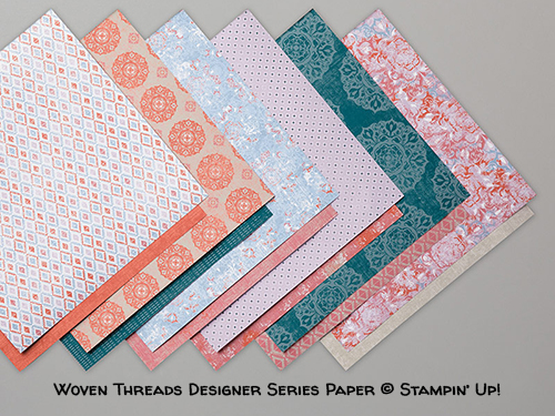 Woven Threads Designer Series Paper © Stampin' Up!