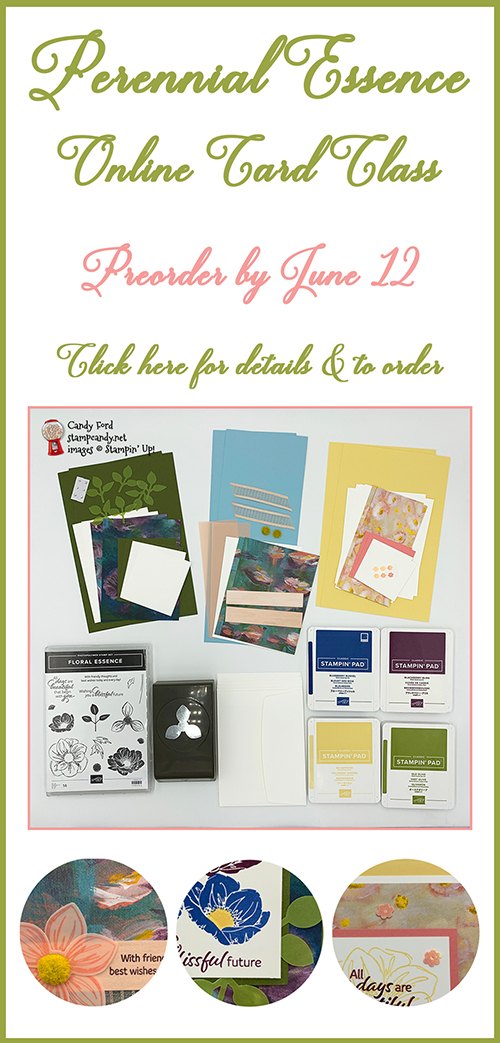Perennial Essence Online Card Class by Candy Ford #stampcandy