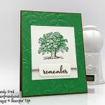 Lovely As a Tree stamp set, Make a Difference stamp set, Layered Leaves embossing folder by Stampin