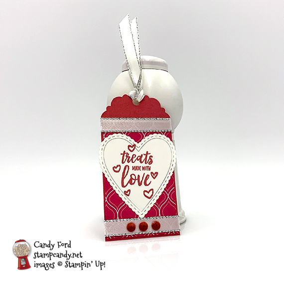 Stampin' Up! Delightful Day handmade love tag by Candy Ford of Stamp Candy