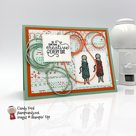 Stampin' Up! It Starts With Art bakers twine handmade card by Candy Ford of Stamp Candy