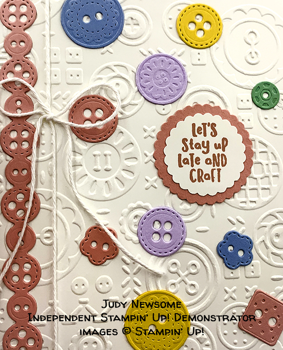 Follow Your Art suite from Stampin' Up! Handmade card made by Judy Newsome of Lafayette, GA #stampcandy