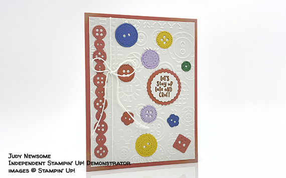 Button Button Card by Judy Newsome