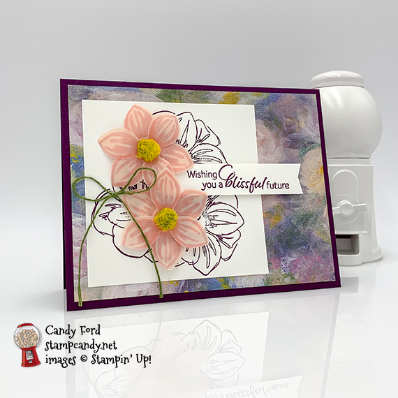Floral Essence stamp set, Perennial Flower Punch, Perennial Essence Designer Series Paper from Stampin' Up! handmade card #stampcandy